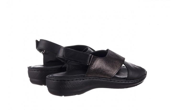 Sandały bayla-161 016 740 black black print, czarny, skóra naturalna - płaskie - sandały - buty damskie - kobieta 3