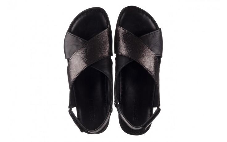 Sandały bayla-161 016 740 black black print, czarny, skóra naturalna - płaskie - sandały - buty damskie - kobieta 4
