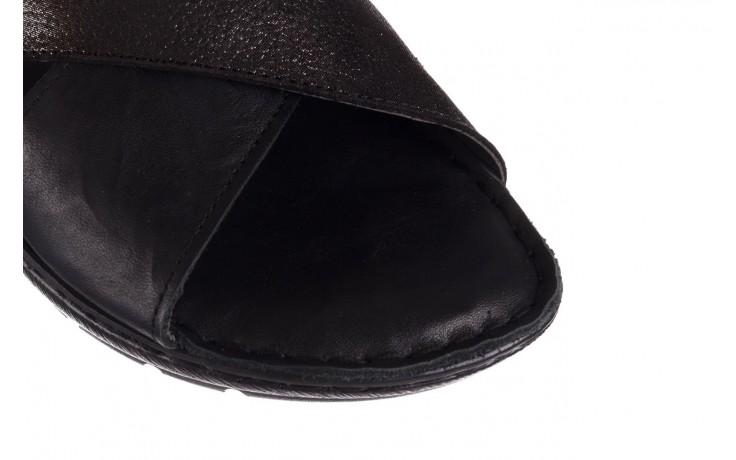 Sandały bayla-161 016 740 black black print, czarny, skóra naturalna - płaskie - sandały - buty damskie - kobieta 6