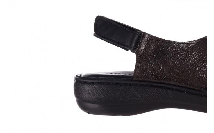 Sandały bayla-161 016 740 black black print, czarny, skóra naturalna - płaskie - sandały - buty damskie - kobieta 7