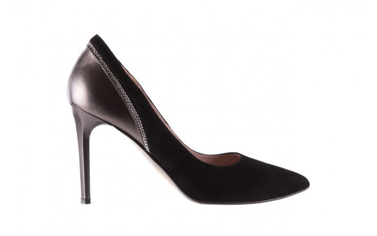 Szpilki bayla-097 17 czarne szpilki, skóra naturalna  - zamszowe - szpilki - buty damskie - kobieta
