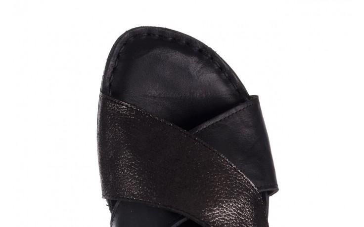 Sandały bayla-161 016 740 black black print, czarny, skóra naturalna - płaskie - sandały - buty damskie - kobieta 5