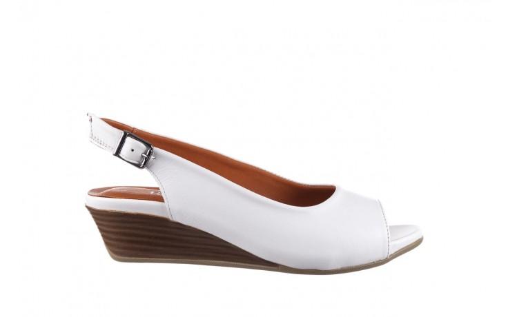 Sandały bayla-161 078 606 3 34 white, biały, skóra naturalna  - sandały - dla niej  - sale
