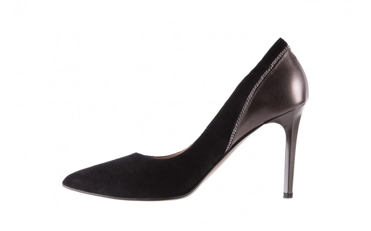 Szpilki bayla-097 17 czarne szpilki, skóra naturalna  - zamszowe - szpilki - buty damskie - kobieta 3
