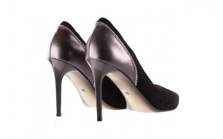 Szpilki bayla-097 17 czarne szpilki, skóra naturalna  - zamszowe - szpilki - buty damskie - kobieta 4