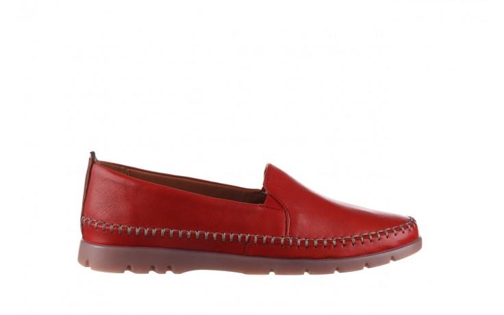 Półbuty bayla-161 078 14305 5 02 red, czerwony, skóra naturalna  - półbuty - buty damskie - kobieta