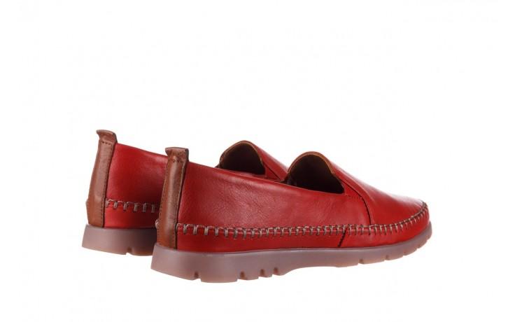 Półbuty bayla-161 078 14305 5 02 red, czerwony, skóra naturalna  - półbuty - buty damskie - kobieta 3