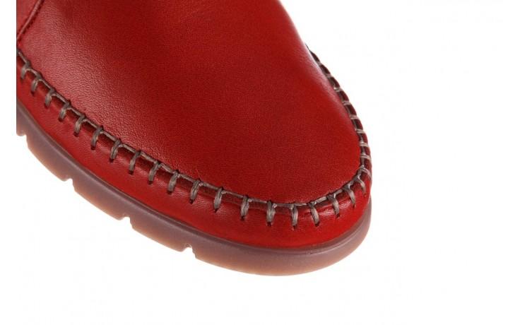 Półbuty bayla-161 078 14305 5 02 red, czerwony, skóra naturalna  - półbuty - buty damskie - kobieta 5