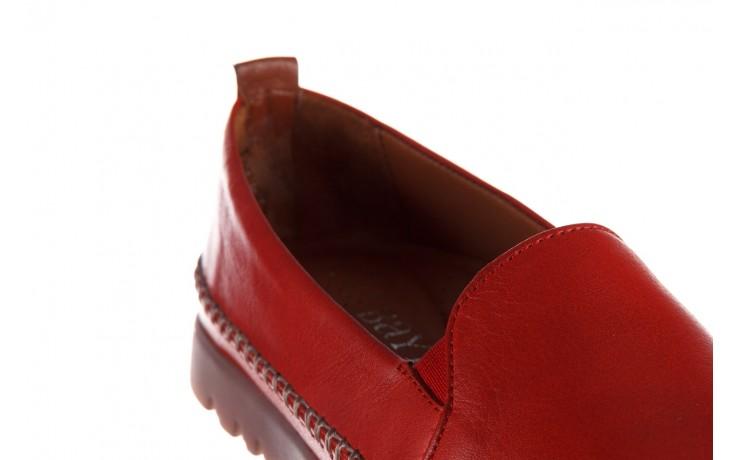 Półbuty bayla-161 078 14305 5 02 red, czerwony, skóra naturalna  - półbuty - buty damskie - kobieta 6