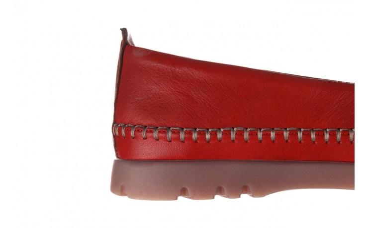 Półbuty bayla-161 078 14305 5 02 red, czerwony, skóra naturalna  - półbuty - buty damskie - kobieta 7