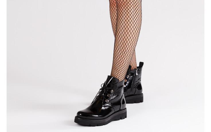 Trzewiki bayla 161 050 4006 400 black patent 161175, czarny, skóra naturalna lakierowana  - trzewiki - buty damskie - kobieta 2