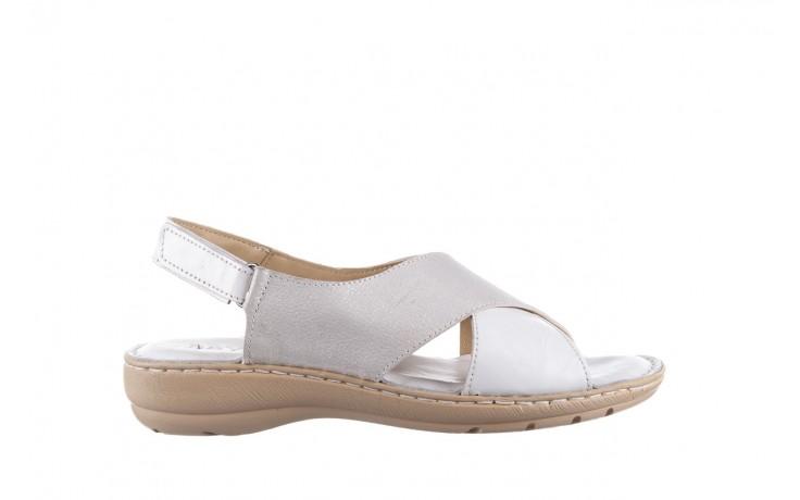 Sandały bayla-161 016 740 white print, biały, skóra naturalna - sandały - buty damskie - kobieta