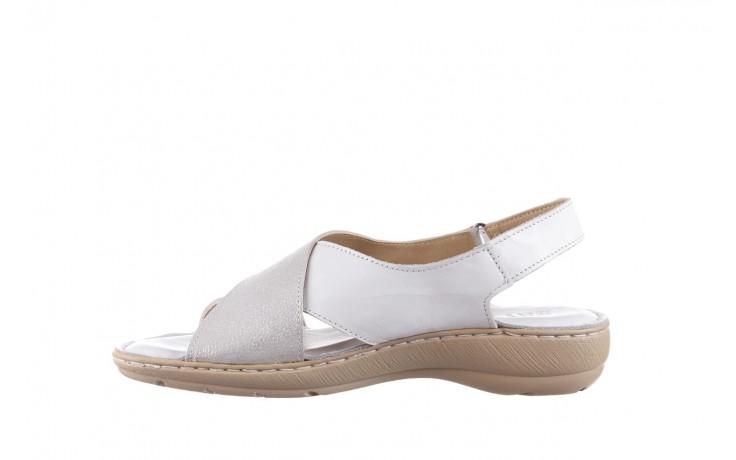 Sandały bayla-161 016 740 white print, biały, skóra naturalna - sandały - buty damskie - kobieta 2