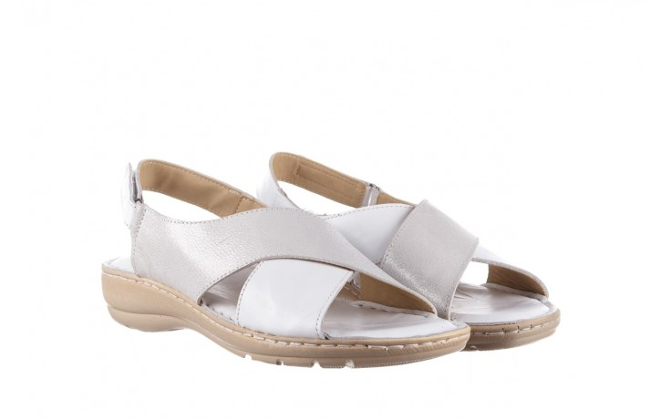Sandały bayla-161 016 740 white print, biały, skóra naturalna - sandały - buty damskie - kobieta 1