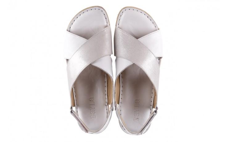 Sandały bayla-161 016 740 white print, biały, skóra naturalna - sandały - buty damskie - kobieta 4