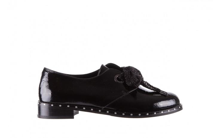 Półbuty bayla-176 8597 czarne półbuty, skóra naturalna lakierowana - mokasyny i lordsy - półbuty - buty damskie - kobieta