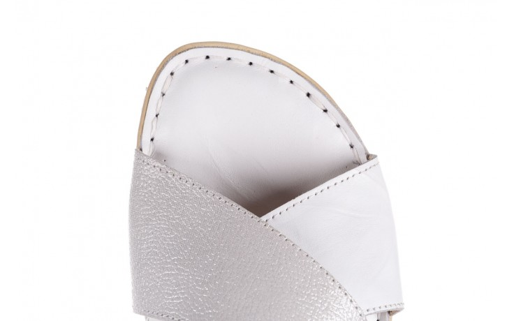Sandały bayla-161 016 740 white print, biały, skóra naturalna - sandały - buty damskie - kobieta 5