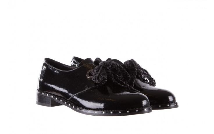 Półbuty bayla-176 8597 czarne półbuty, skóra naturalna lakierowana - mokasyny i lordsy - półbuty - buty damskie - kobieta 1