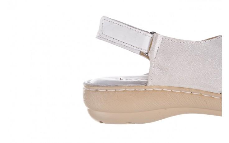 Sandały bayla-161 016 740 white print, biały, skóra naturalna - sandały - buty damskie - kobieta 7