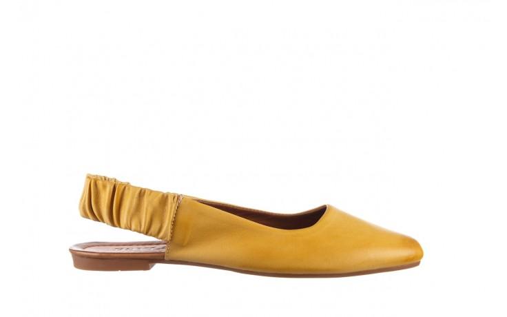 Sandały bayla-161 066 730 353 yellow, żółty, skóra naturalna  - sandały - dla niej  - sale