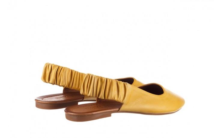 Sandały bayla-161 066 730 353 yellow, żółty, skóra naturalna  - sandały - dla niej  - sale 3