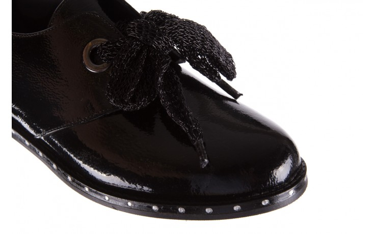 Półbuty bayla-176 8597 czarne półbuty, skóra naturalna lakierowana - mokasyny i lordsy - półbuty - buty damskie - kobieta 6