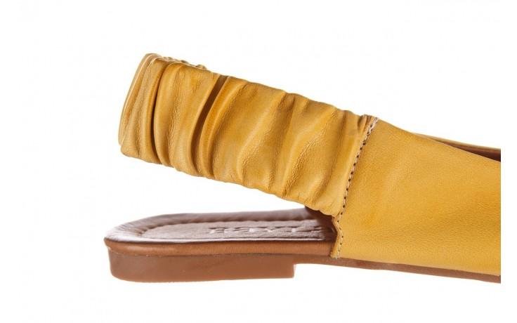 Sandały bayla-161 066 730 353 yellow, żółty, skóra naturalna  - sandały - dla niej  - sale 6