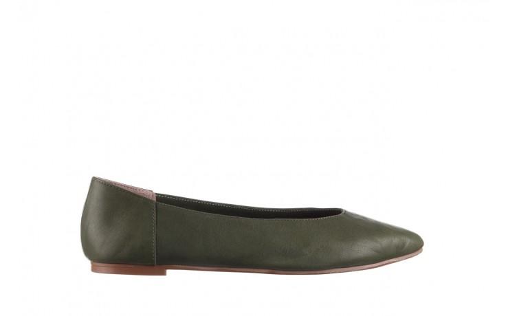 Baleriny bayla-161 093 388 4010 khaki 20, zielony, skóra naturalna - skórzane - baleriny - buty damskie - kobieta