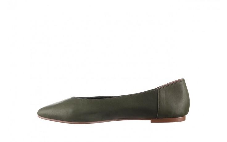 Baleriny bayla-161 093 388 4010 khaki 20, zielony, skóra naturalna - skórzane - baleriny - buty damskie - kobieta 2