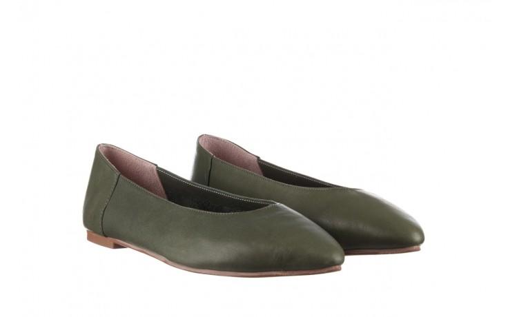 Baleriny bayla-161 093 388 4010 khaki 20, zielony, skóra naturalna - skórzane - baleriny - buty damskie - kobieta 1