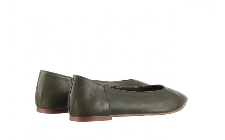 Baleriny bayla-161 093 388 4010 khaki 20, zielony, skóra naturalna - skórzane - baleriny - buty damskie - kobieta 3