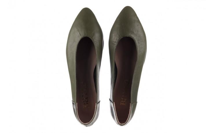 Baleriny bayla-161 093 388 4010 khaki 20, zielony, skóra naturalna - skórzane - baleriny - buty damskie - kobieta 4