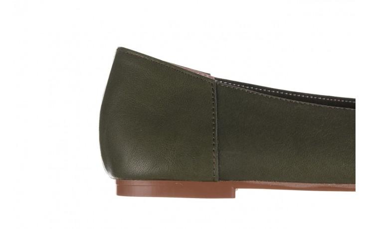 Baleriny bayla-161 093 388 4010 khaki 20, zielony, skóra naturalna - skórzane - baleriny - buty damskie - kobieta 6