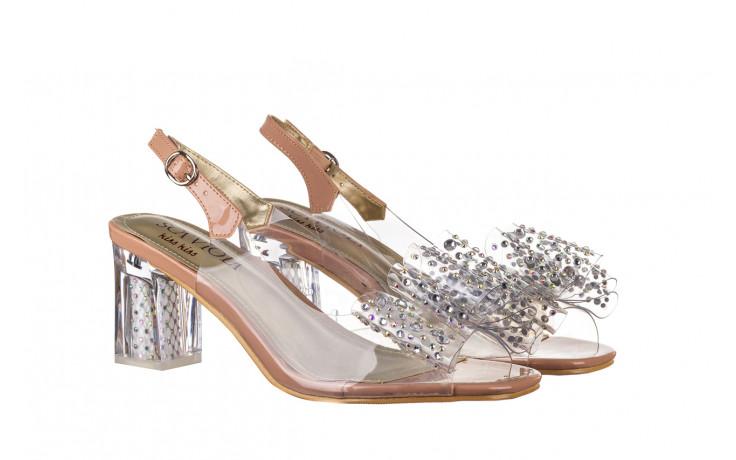 Sandały sca'viola g-60 l. pink 047175, róż, silikon - nowości 1
