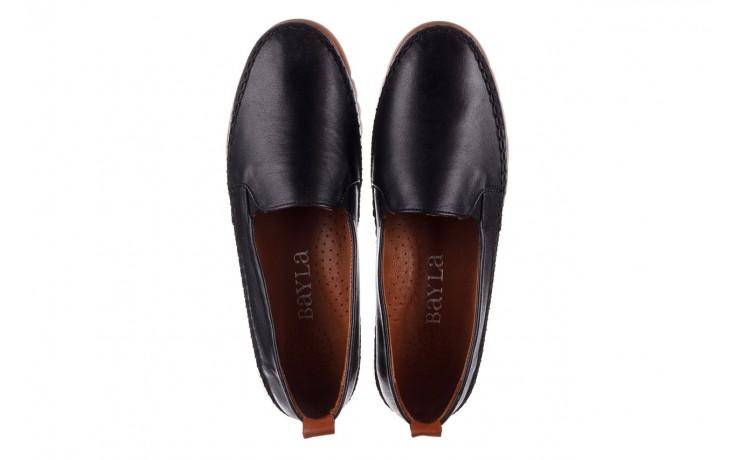 Półbuty bayla-161 078 14305 5 black, czarny, skóra naturalna  - półbuty - buty damskie - kobieta 4