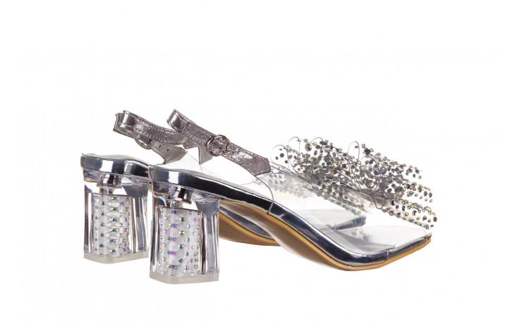 Sandały sca'viola g-60 silver 047176, srebro, silikon 3