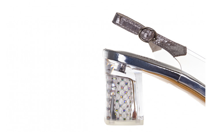 Sandały sca'viola g-60 silver 047176, srebro, silikon 6