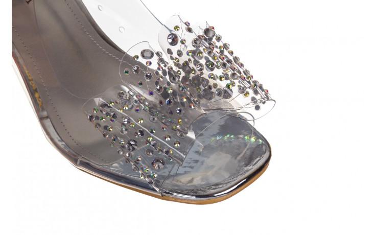 Sandały sca'viola g-60 silver 047176, srebro, silikon 7