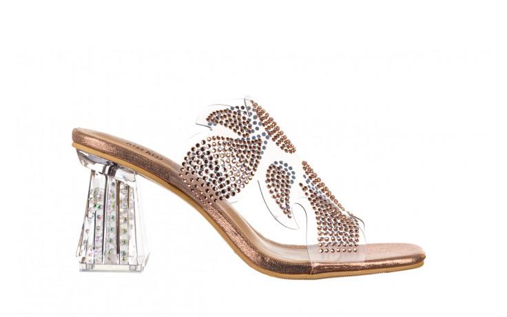 Klapki sca'viola g-57 gold 047173, złoty, silikon - klapki - buty damskie - kobieta