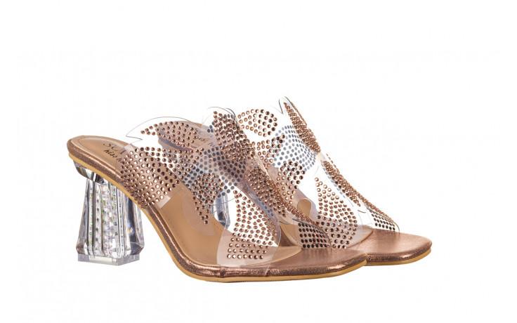 Klapki sca'viola g-57 gold 047173, złoty, silikon - klapki - buty damskie - kobieta 1