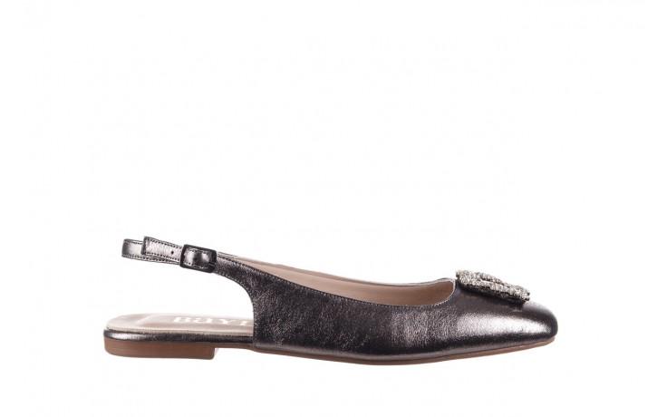 Sandały bayla-161 093 388 4054 platin, srebrny, skóra naturalna - wiosna-lato 2020