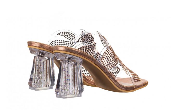 Klapki sca'viola g-57 gold 047173, złoty, silikon - klapki - buty damskie - kobieta 3