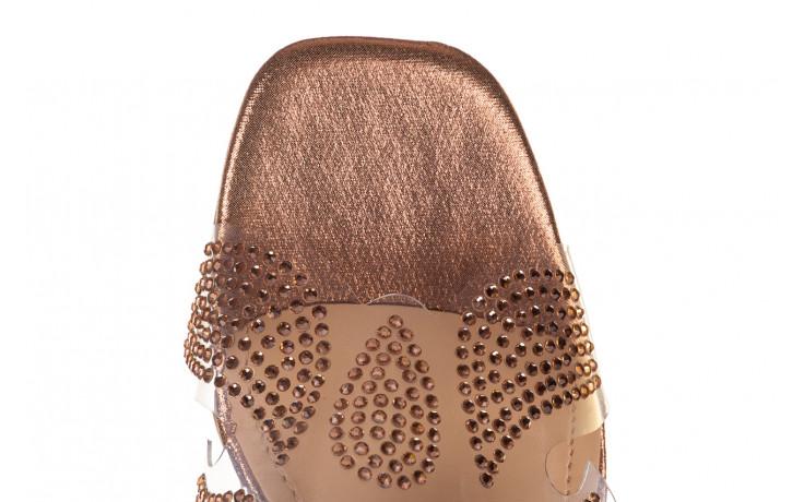 Klapki sca'viola g-57 gold 047173, złoty, silikon - klapki - buty damskie - kobieta 6