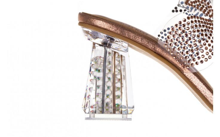Klapki sca'viola g-57 gold 047173, złoty, silikon - klapki - buty damskie - kobieta 7