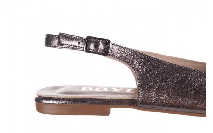 Sandały bayla-161 093 388 4054 platin, srebrny, skóra naturalna - wiosna-lato 2020 7