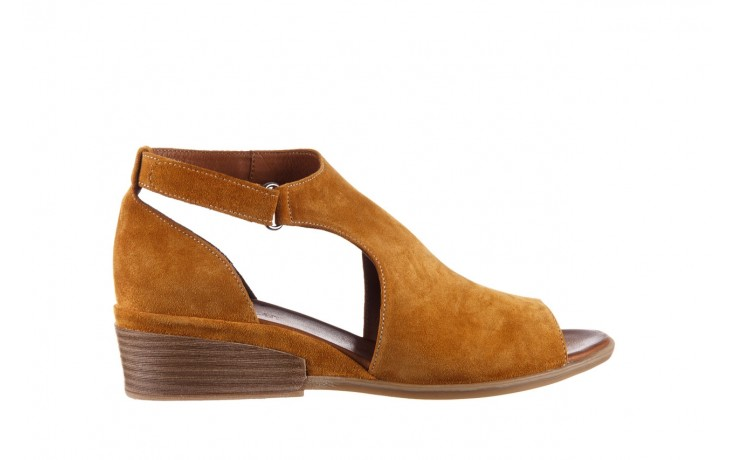 Sandały bayla-161 061 1612 noce suede, żółty, skóra naturalna  - sandały - buty damskie - kobieta