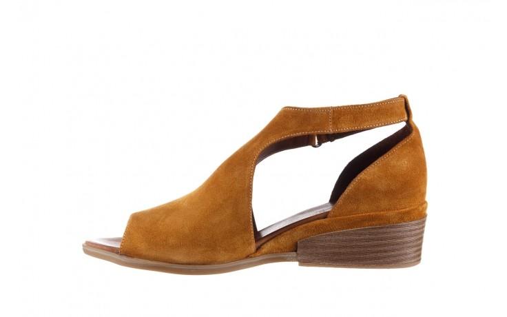 Sandały bayla-161 061 1612 noce suede, żółty, skóra naturalna  - sandały - buty damskie - kobieta 2