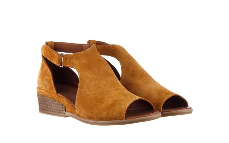 Sandały bayla-161 061 1612 noce suede, żółty, skóra naturalna  - sandały - buty damskie - kobieta 1