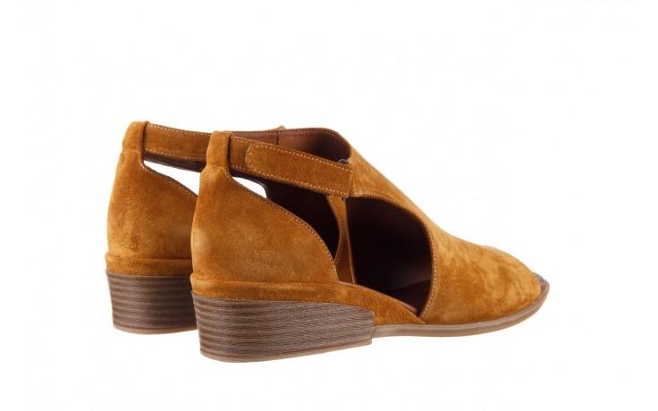 Sandały bayla-161 061 1612 noce suede, żółty, skóra naturalna  - sandały - buty damskie - kobieta 3