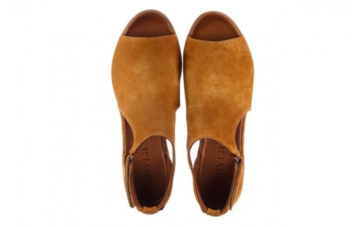 Sandały bayla-161 061 1612 noce suede, żółty, skóra naturalna  - sandały - buty damskie - kobieta 4
